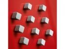 ,magneet voor glasbord Sigel 10x10x10mm vernikkeld sterk 10  stuks