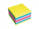 ,Memoblok Info Notes kubus 75x75mm neon assorti 450vel