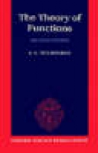 E. C. Titchmarsh The Theory of Functions