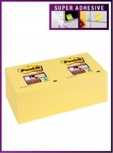 , Memoblok 3M Post-it 654 Super Sticky 76x76mm geel