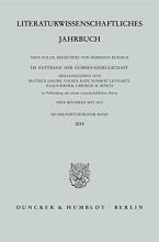 Literaturwissenschaftliches Jahrbuch 56. Band (2015)