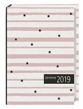 times&more Kalenderbuch 2019 Streifen rosa