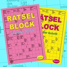 Rätselblock in großer Schrift - Doppelpack - 256 Seiten