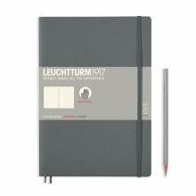 Lt355314 Leuchtturm notitieboek comp. softcover 178x254 mm dots/bullets  grijs antraciet