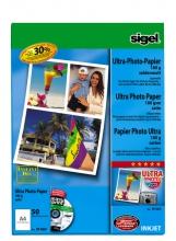 , inkjet Ultra fotopapier A4 190gram zijdemat 50 vel