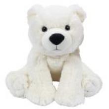 , Knuffel pluche ijsbeer zttend 28 cm