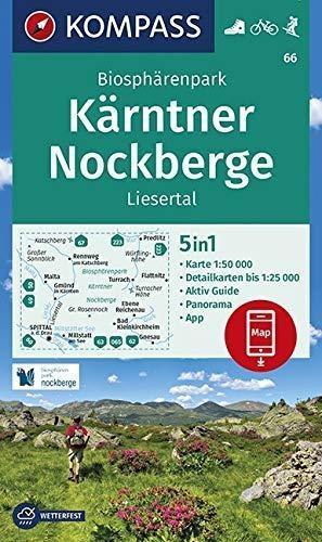 ,Biosphärenpark Kärntner Nockberge, Liesertal 1:50 000