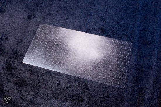 ,vloermat Kangaro voor tapijt 120 x 130 cm lip korte zijde   transparant pet 2,1mm/nop 2,1