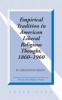 W. Creighton Peden, Empirical Tradition in American Liberal Religious Thought, 1860-1960
