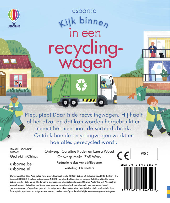,Een recyclingwagen