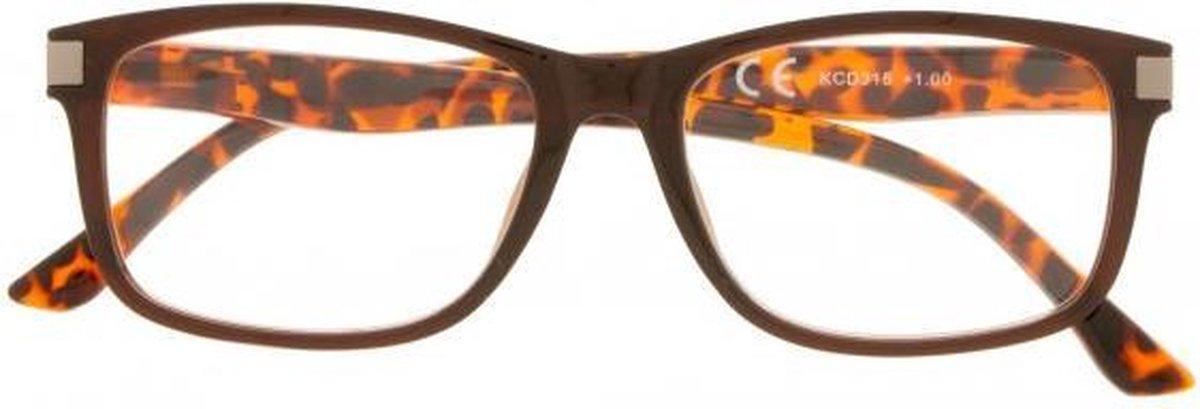 Kcd315 3.00,Leesbril bruin marmer 3.00