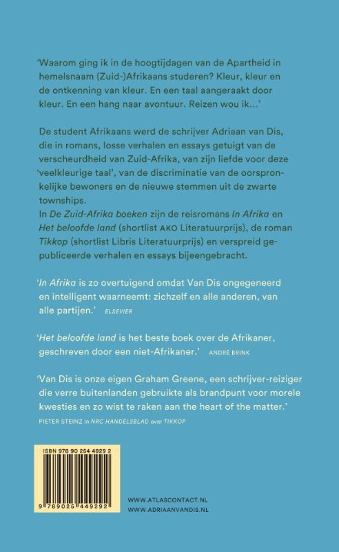 Adriaan van Dis,De Zuid-Afrika boeken