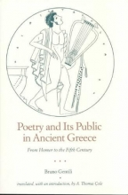 Gentili, Poetry and Its Public in Ancient Greece