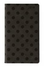 Ladytimer Slim Deluxe Black 2018 - Taschenplaner Taschenkalender (9 x 16) - Tucson Einband - Motivprägung Punkte - Weekly - 128 Seiten