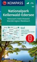 Kompass-Karten Gmbh , KOMPASS Wanderkarte Nationalpark Kellerwald-Edersee, Naturpark Habichtswald, Wanderregion Medebach