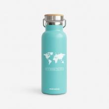, Woody drinkbus Wereld Munt blauw - Wit