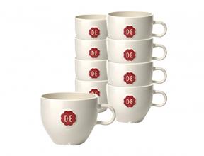 , Kopje Douwe Egberts Cappuccino 180ml wit