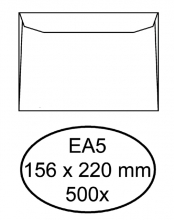 , Envelop Quantore bank EA5 156x220mm wit 500stuks