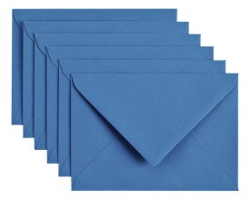 , Envelop Papicolor C6 114x162mm donkerblauw