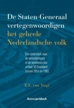 E.Y. van Vugt , De Staten-generaal vertegenwoordigen het geheele Nederlandsche volk