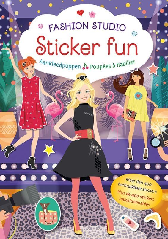 ,Fashion Studio Sticker Fun – Aankleedpoppen Fashion Studio Sticker Fun – Poupées à habiller