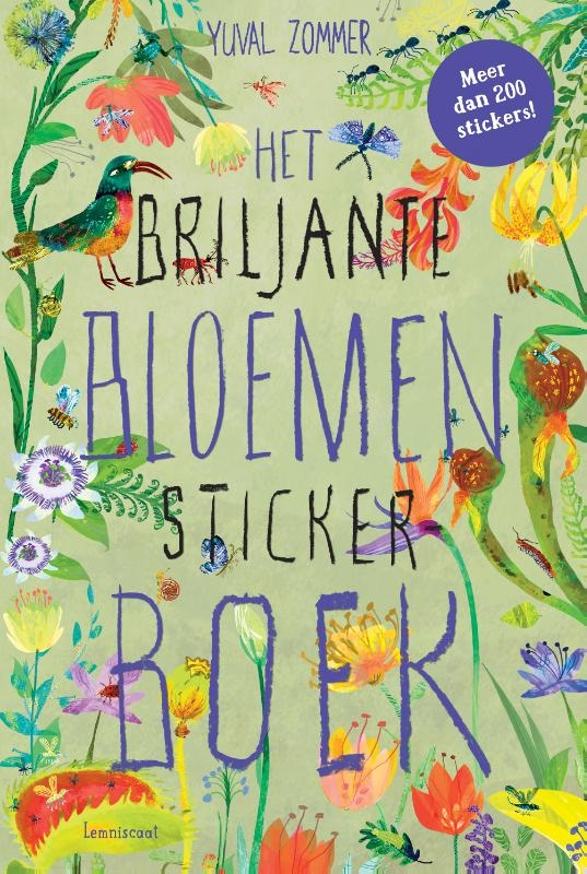 Yuval Zommer,Het Briljante Bloemen Boek Stickerboek