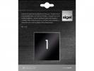 <b>insteekfolie voor nummerst. 60x60mm zwart/zilver 25 stuks</b>,
