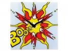 ,wandklok NeXtime 43x43cm, glas, gekleurd, `Boom`