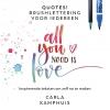 <b>Carla  Kamphuis</b>,Quotes! Brushlettering voor iedereen