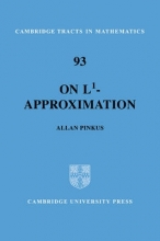 Allan M. Pinkus On L1-Approximation