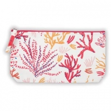 Coral Handmade Embroidered Pouch