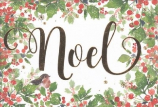 Festive Noel Small Holiday Cards