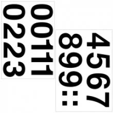 , Etiket Herma 4189 33mm getallen 0-9 zwart 16stuks