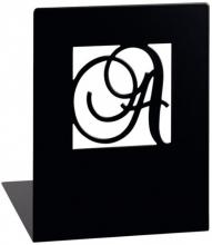 Mos-81339 Boekensteunen metaal a en z zwart