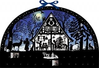 , Wandkalender - Lichterbogen Weihnachtswald