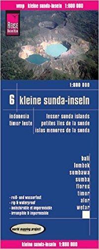 ,Reise Know-How Landkarte Kleine Sunda-Inseln(1:800.000) - Bali, Lombok, Sumbawa, Sumba, Flores, Timor, Alor, Wetar -  Karte Indonesien 6