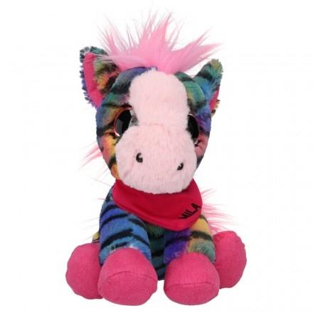 ,Snukis knuffel zebra mila - 18 cm