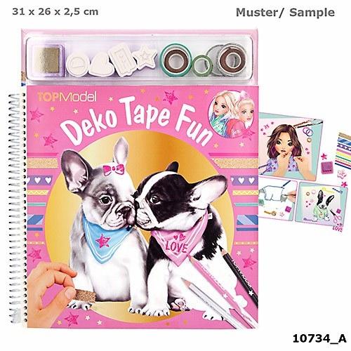 ,Topmodel kleurboek met maskin g tapes dog