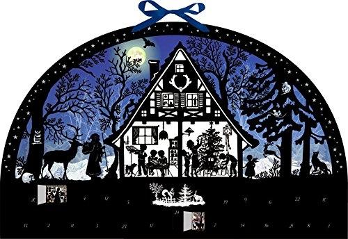 ,Wandkalender - Lichterbogen Weihnachtswald