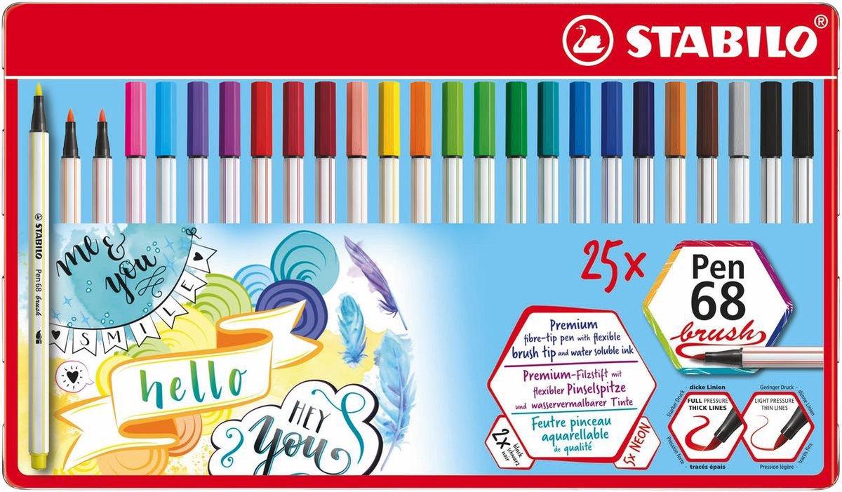 ,Brushstift STABILO 568/25-321 blik à 25 stuks