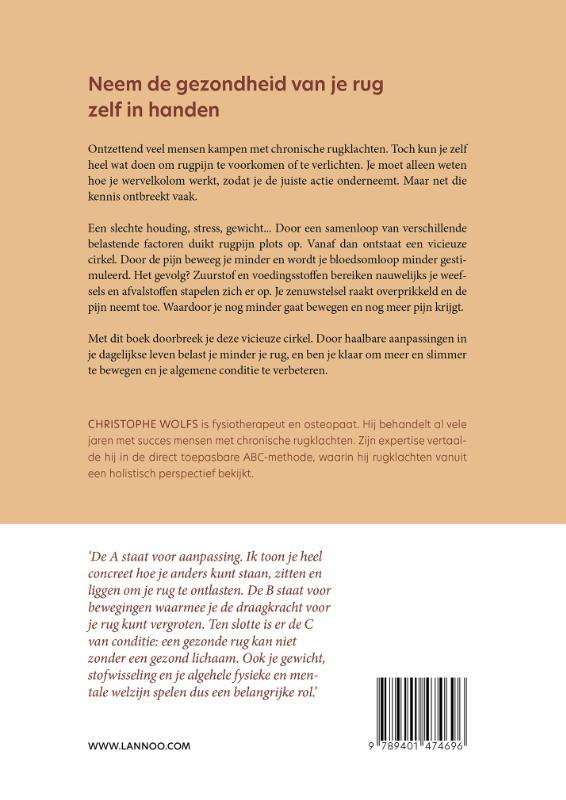 Christophe Wolfs,Het ABC van een gezonde rug