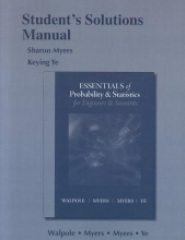 Keying Ye Student Solution`s Manual for Essentials Probability & Statistics for Engineers & Scientists