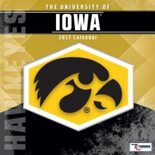 Cal 2017 Iowa Hawkeyes 2017 12x12 Team Wall Calendar