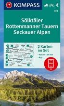 KOMPASS-Karten GmbH , KOMPASS Wanderkarte Sölktäler, Rottenmanner Tauern, Seckauer Alpen 1:55 000