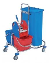 , Afvalzak HDPE 70x110cm 110liter 20micron blauw doos à 500 stuks