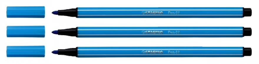 , Viltstift STABILO Pen 68/57 azuur blauw