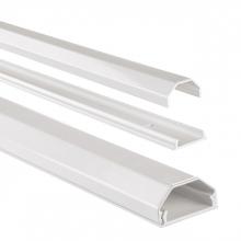 , Kabelkanaal Hama hoekig 110/3,3/1,7 cm aluminium wit