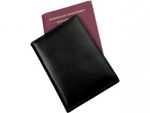 , Paspoort Alassio etui met RFID, zwart nappaleer, 9,5 x 14 cm