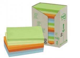 , Memoblok 3M Post-it 655 76x127mm recycled rainbow pastel