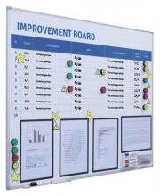 , Verbeterbord + starterkit visual management 90x120cm
